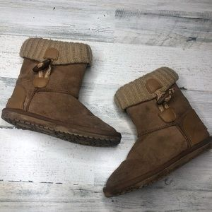 Girls Boots brown size 1 one winter